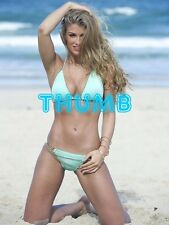 Amy Willerton - 8x6 inch Photograph #020 in Skimpy Blue Bikini on the Beach
