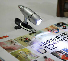 1PC Adjustable Clip On Book Reading Spot Light Lamp LED Portable Travel Gadget