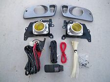 92-95 Honda Civic 2/3 Door EG EJ JDM Yellow Fog Light Kit + Harness + Switch Si