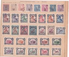 PORTUGAL NYASSA  STAMPS ON ALBUM PAGE  R3664