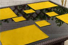 Jaune pack de 6 sous-verres outdoor alfresco imperméable jardin salle à manger tissu