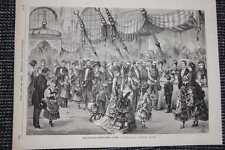 Basar für Waisenkinder in Wien HOLZSTICH von 1876