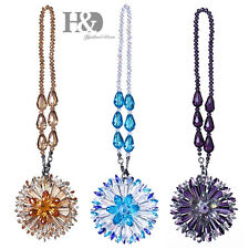 Set 3 Hanging Rainbow Suncatcher Crystal Peony Prism Pendulum Feng Shui Pendants