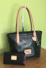 Guess Airun Black Small Tote Bag & Wallet Purse