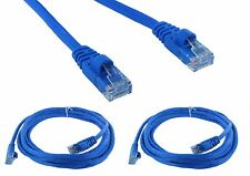 2 Pack 25 ft Feet RJ45 CAT5E LAN Network Cable for Router Switch(CAT5E-25BLU-2P)