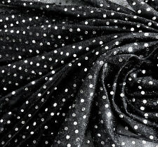 G31 Shiny Silver Sequin Grey Fabric Material by Meter