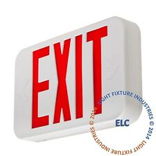 Red LED Emergency Exit Light Sign - Modern Battery Backup UL924 Fire - LEDRBBJR