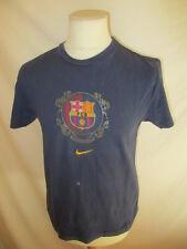 * T-shirt de football vintage FC Barcelone Nike Bleu Taille S