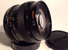 Wide Angle Prime Kiron 28mm f/2 Lens For Pentax K Mount + Caps.