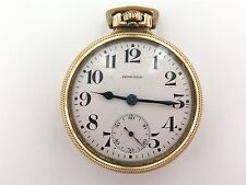 .E. HOWARD EARLY 1900'S SERIES II 21J RAILROAD CHRONOMETER POCKET WATCH WORKING.