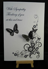 Personalised & Handmade Sympathy, With Sympathy Card, Bereavement Card