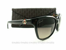 New Gucci Sunglasses GG 3645/S Black D28ED Authentic