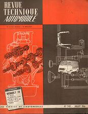 RTA revue technique automobile N°243 RENAULT 10
