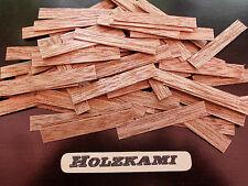 50 Holzleisten Meranti 50mm x 8mm x 0,6mm  L/B/H  Neu