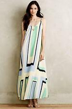 NWT $168 Anthropologie Abstract Maxi Dress by Maeve LARGE