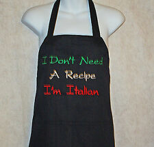 Italian Apron, Funny BBQ, Grill, Italy, Custom Personalize With Name, AGIFT 518