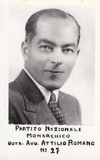 A9936) VOTA AVV. ATTILIO ROMANO, PARTITO NAZIONALE MONARCHICO.