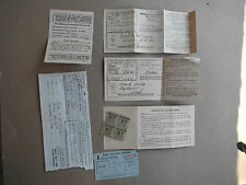 WW2 US home front gasoline rationing paperwork and cards