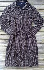 EUC Alexa Chung Madewell Silk Cinema Houndstooth Mini dress 6 S Small Long Sleev
