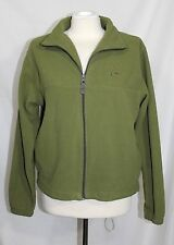 Boeing Aircraft - Women's M - Solid Green Logo Airline Full ZIp-Up Fleece Jacket