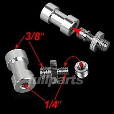 """1/4"""" to 3/8"""" Female to Male Threaded Tripod Screw Adapter Light Stand Bracket"""