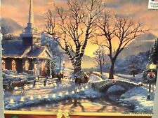 "NEW ""Holiday Evening Sleigh Ride"" 1000 pc Jigsaw Puzzle by Thomas Kincade"