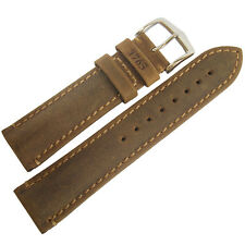 22mm Hirsch Heritage 1765 Golden Brown Made in Austria Leather Watch Band Strap