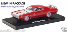 L49  M2 11228 04 MACHINES AUTO DRIVER 1971 DODGE CHARGER R/T 1:64 CHASE RED