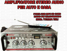 AMPLIFICATORE AUDIO HIFI USB 12 V 220 V SD MP3 FM RADIO PC DVD IMPIANTI STEREO