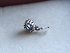 New Authentic Pandora Birthstone April Quartz dangle bead charm 790166BK