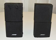 2 BLACK BOSE DOUBLE CUBE SPEAKERS 28 38 48 25 V20 LIFESTYLE ACOUSTIMASS
