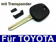 Car Key Casing mit Transponder for TOYOTA Aygo Corolla Avensis RAV