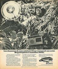 PUBLICITE ADVERTISING 114  1974  SONY   magnétophone à cassette
