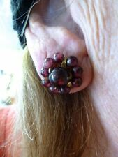 Authentic Vintage 1990's Genuine Garnet Pierced Earrings