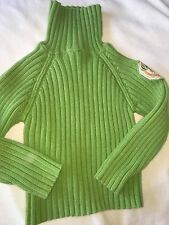 Fantastic Girls Sz. 4 Chipie Green Ribbed Turtleneck Sweater. Great Item