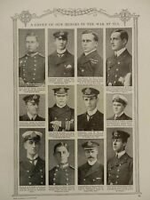 1914 ROYAL NAVY HEROES TALBOT FREMANTLE HOOD GOODHART CHOLMLEY PEPLOE WWI WW1