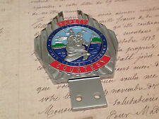 St Christopher Car Badge.Regarde St Christophe,Puis Va Ten Rassure.