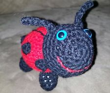 Hand crocheted Lady Bug with safety eyes