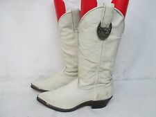 CAPEZIO LADIES WHITE LEATHER WESTERN COWBOY BOOTS Size 6 M Style L587