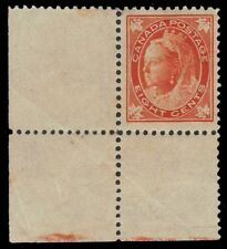 """CANADA 72iv - Queen Victoria """"Leaf"""" Thin Paper Printing"""" (pf87173) NH $1500"""
