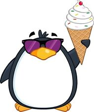 30 Custom Cool Ice Cream Penguin Personalized Address Labels