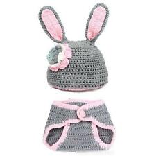 Newborn Toddler Baby Girl's Warm Hat+Pants Bunny Rabbit Clothes Outfit Suit Set