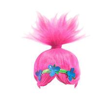 Kids Trolls Funny POPPY WIG Pink Dream Works Cosplay Party Trolls Props 26x32cm