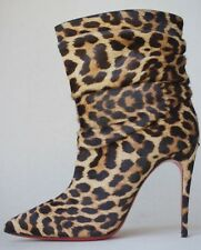 CHRISTIAN LOUBOUTIN LEOPARD PONY ANKLE BOOTS 38.5 UK 5.5