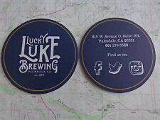Beer Brewery Coaster ~ LUCKY LUKE Brewing Co ~*~ Palmdale, CALIFORNIA Since 2015