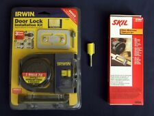 NEW IRWIN WOOD DOOR LOCK JIG SKIL HINGE INSTALLATION MORTISING KITS, ROUTER BIT