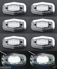 8x 12V LED Côté BLANC Cadre Chromé feux de position pour Camion Bus Camping car