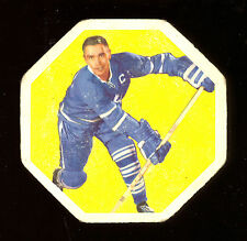 1961-62 YORK PEANUT BUTTER YELLOW BACKS #37 GEORGE ARMSTRONG TORONTO MAPLE LEAFS