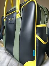 Paul Smith bag for men, black/yellow/light green, faux leather.
