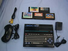 MSX MX-10 BK  CASIO Console System +5games  Japan Video Game (GRE34
